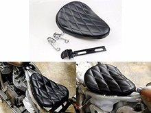Black Diamond Solo Driver Stitch Seat w/ 2 Spring Harley Bobber Chopper Custom