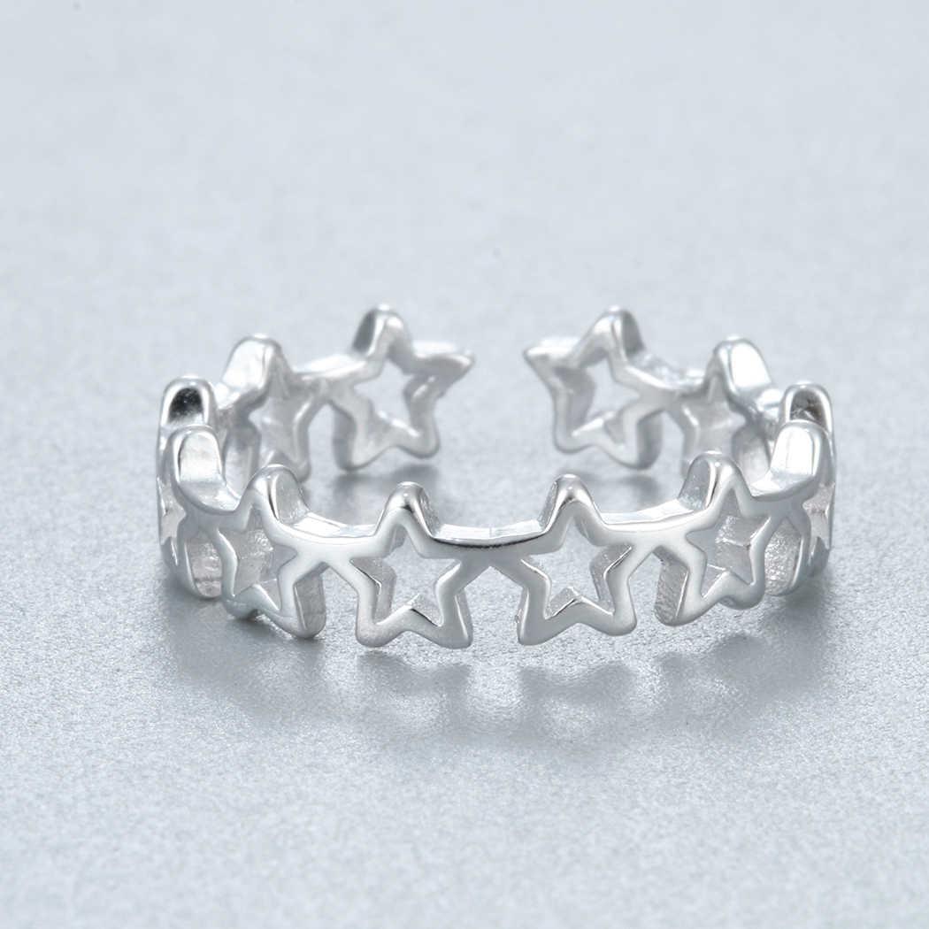 Cxwind перфорацией в виде звезд Ссылка палец кольца «Неделька» для Для женщин Обручение кольцо моде шарм кольцо с дизайном «звёзды», ювелирное изделие, подарок