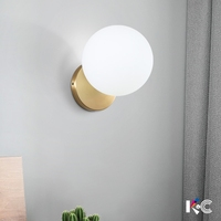 Modern Nordic Wall Lamp Acrylic Round Glass Ball Mounted Light LED Indoor Lighting for Restaurant Living Room Bedroom Corridor