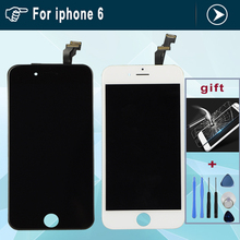 Grade AAA 4.7 inch Replacement Screen LCD For iPhone 6 Display With Digitizer Touch Screen Assembly White Black LCD for iphone6