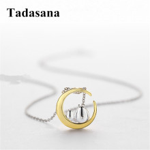 925 Sterling Silver Totoro Necklaces Pendants For Women Short Necklace Gold Color Jewelry Gift