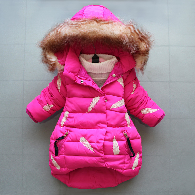 BibiCola baby girls winter cotton outerwear casaul hooded toddle clothing warm thick down parkas snow suit infant coats jackets