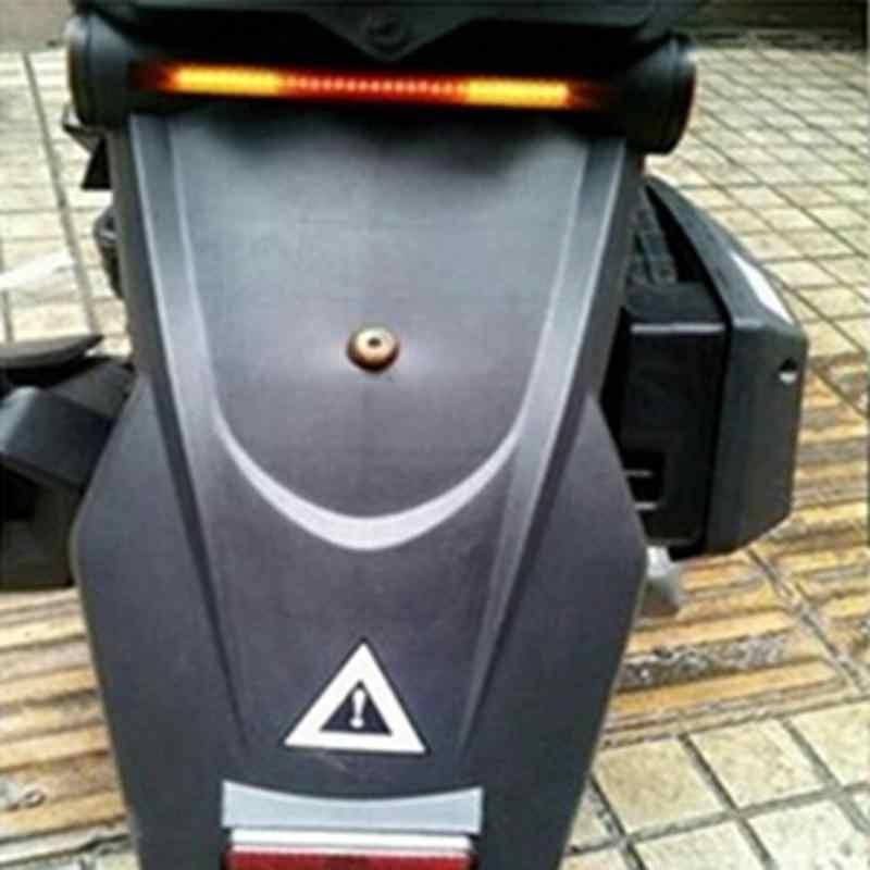 Tira de luz de señal de giro de freno Flexible 48LED para motocicleta