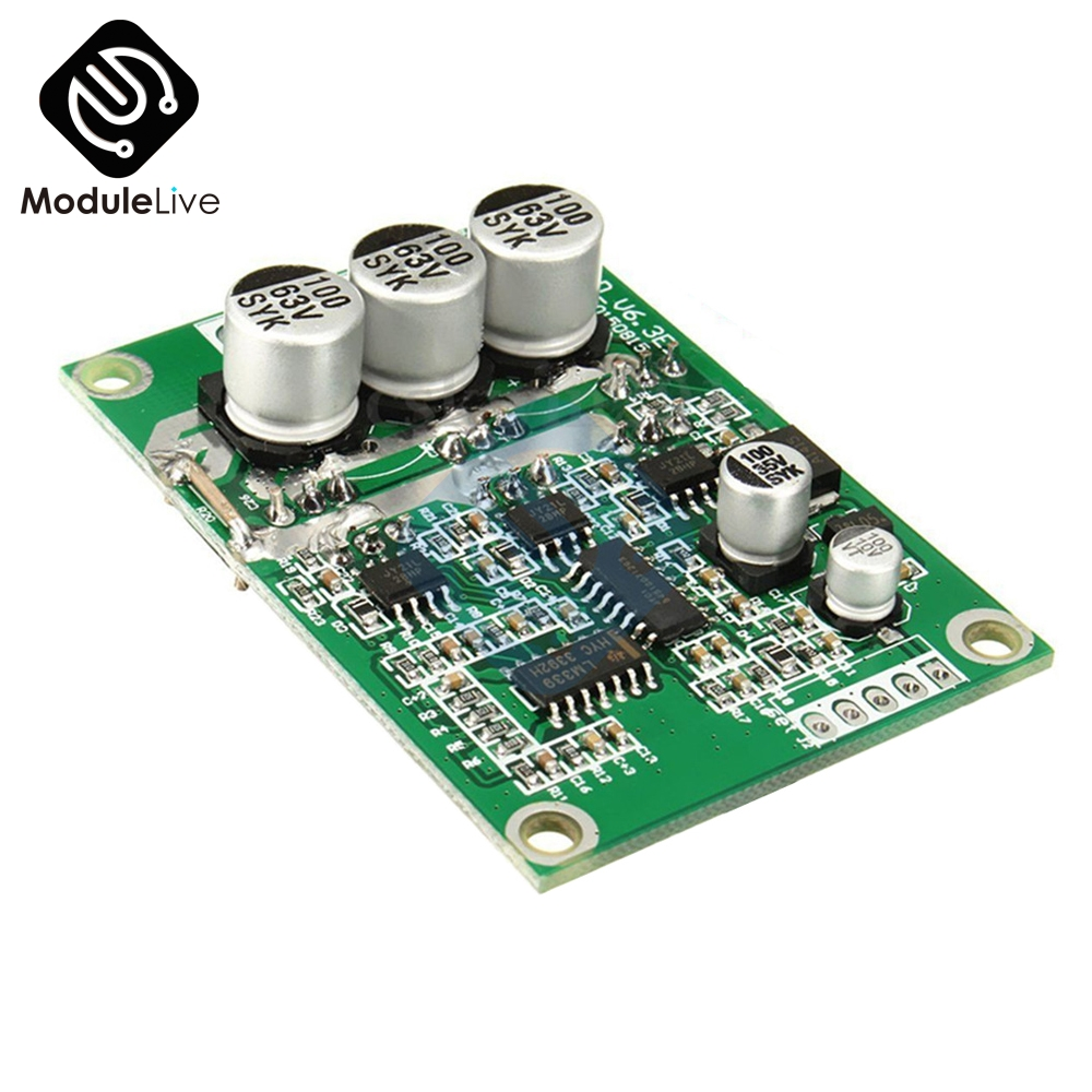 DC 12V-36V 500W PWM Brushless Motor Controller Hall Motor Balancing Automotive Balanced BLDC Car Driver Control Board Module