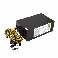 1800W High efficiency 6+2 Pin Miner Mining Machine Power Supply For Antminer A6/7 S7/9 L3+ D3 R4 with Double Cooling Fans