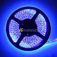 Dc12v 5 m 3528 smd 120led/m 600 leds tia cực tím uv 395-405nm tím waterproof flexible led strip nhẹ free vận chuyển