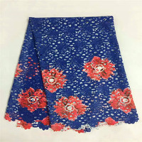 flower beautiful!Wholesale Africa lace fabric wedding!Hot sales printing cord lace ZR02 22