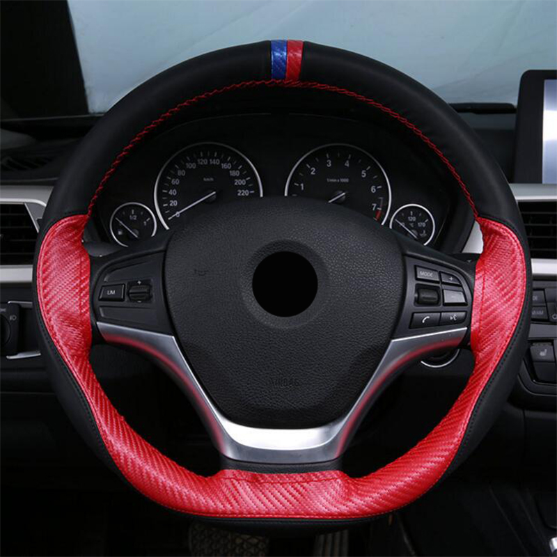ZHIHUI car steering wheel carbon fiber car covers for Mitsubishi ASX Outlander Pajero Lancer car styling