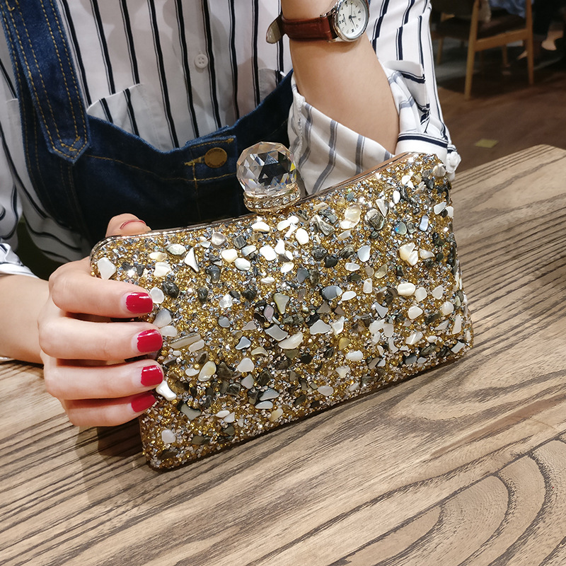 Luxury Women Bags Designer Evening Party Bag for Female Gold Mini Sequins Clutch Bag Lady's Handbag Purse Chain Crossbody Bag beaumais mini chain bag handbag women famous brand luxury handbag women bag designer crossbody bag for women purse bolsas df0232