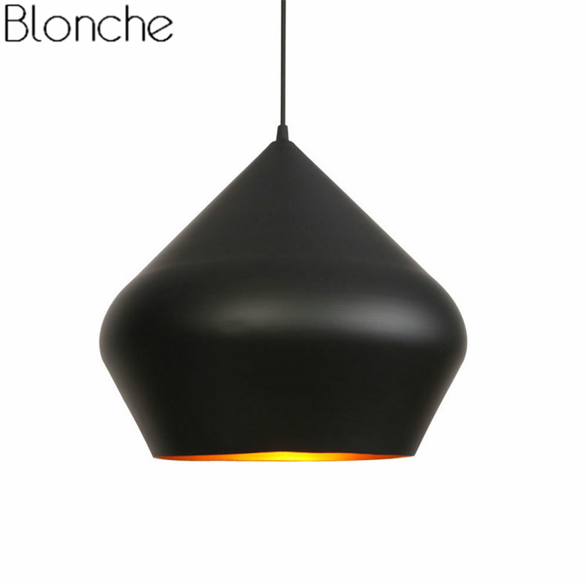 Modern Tom Dixon Beat Pendant Lights Led E27 Hanging Lamp for Dining Room Kitchen Home Fat Suspension Luminaire Industrial DecorModern Tom Dixon Beat Pendant Lights Led E27 Hanging Lamp for Dining Room Kitchen Home Fat Suspension Luminaire Industrial Decor