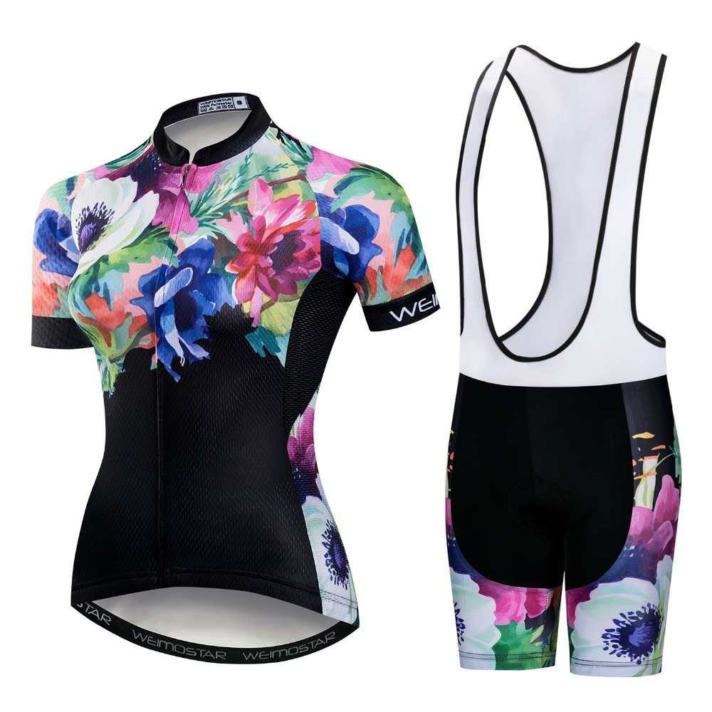 Summer Women Cycling Jersey Short Sleeve and Shorts Set Pro Woman Cycling Clothing MTB Ropa Ciclismo Bike Clothes Female