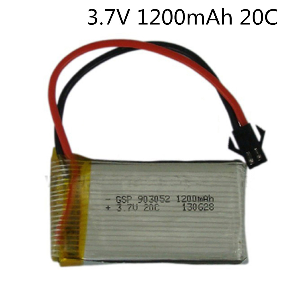 3.7V 1200mAh 20C Lipo Battery For Remote Control Helicopter Lipo Battery 3.7 V 1200 mAH 20C discharge SM black plugs 903052