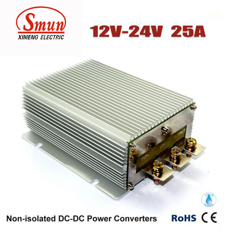 цена на Step Up DC DC Converter 12V TO 24V 25A 600W Waterproof Car Power Supply