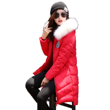 New women s winter jacket cultivate one s morality long Polyester Wadding cotton padded jacket heavy