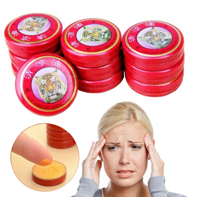 2/4/6/8pcs Massage Red Muscle Rub Aches Cool Cream Chinese Tiger Balm Essential Oil for Adults Pain Relief Ointment