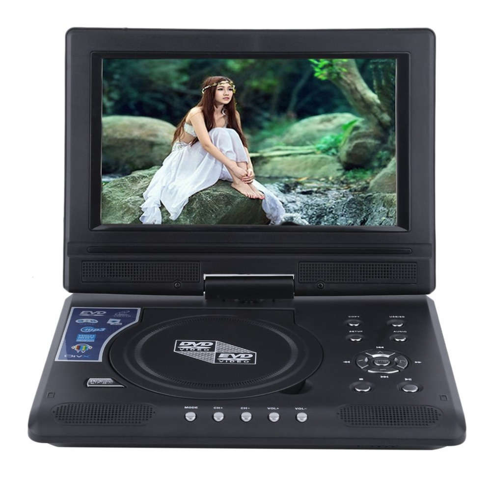 FJD-998 Portable 9-Inch TFT LCD Screen Mobile DVD Player Digital Multimedia Player 270 Degree Rotation Screen EVD майка борцовка print bar flower birds