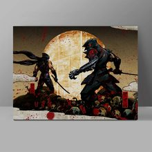 Ninja Gaiden Canvas Retro Console Game Novelty Painting Childhood Collective Wall Pictures Waterproof Creative Cotton Poster