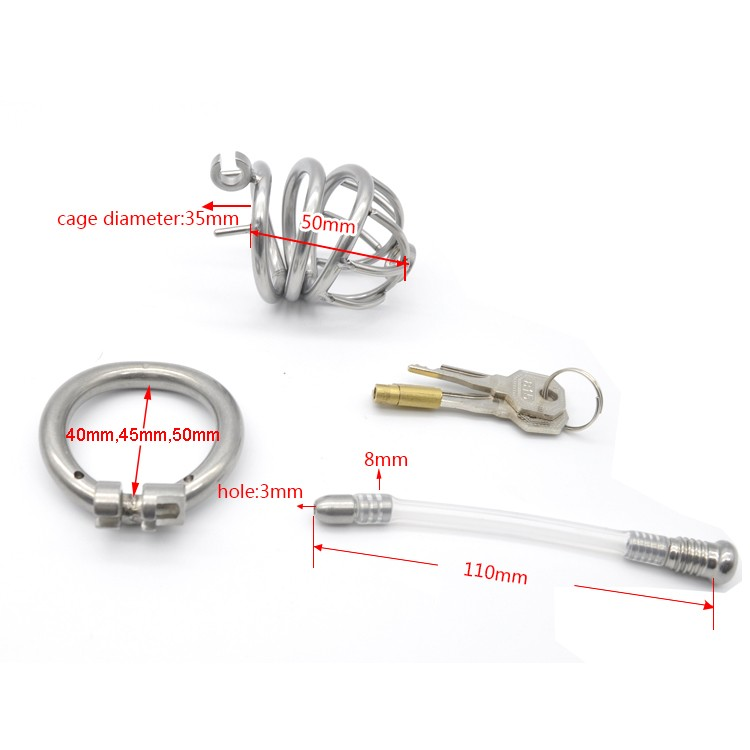 304-stainless-steel-Cock-Cage-Chastity-with-catheter-Device-with-Stealth-lock-Curved-ring-Sex-Toy