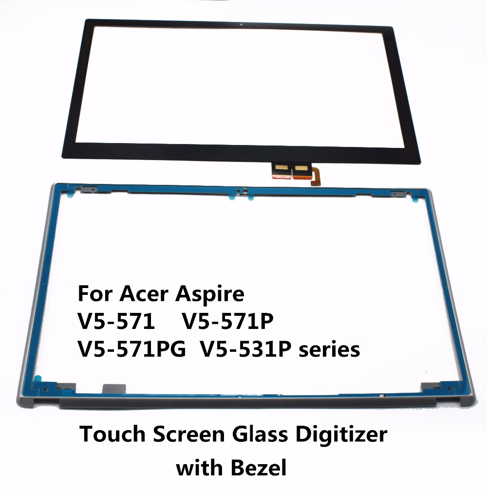 Touch Screen Digitizer Glass Lens Replacement Parts For Acer Aspire V5-571 V5-571P V5-571PG V5-531P series V5-571PG-7353 MS2361 russian keyboard for acer aspire v5 v5 531 v5 531g v5 551 v5 551g v5 571 v5 571g v5 571p v5 571pg v5 531p backlit ru black
