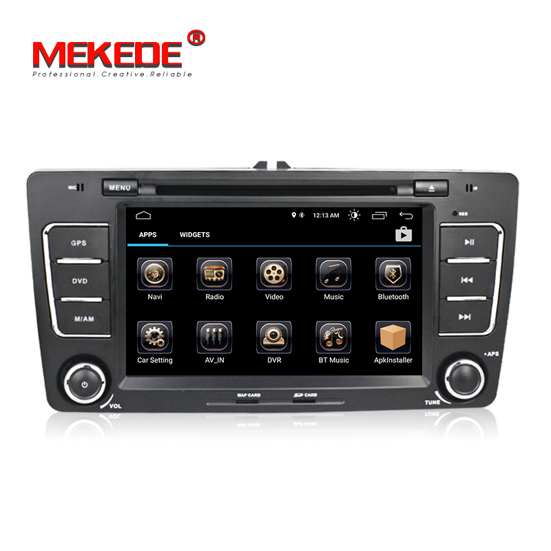 2din HD Capacitive screen Car Audio dvd player gps navigator for Android8.0 Skoda Octavia A5 car multimedia player mic gift