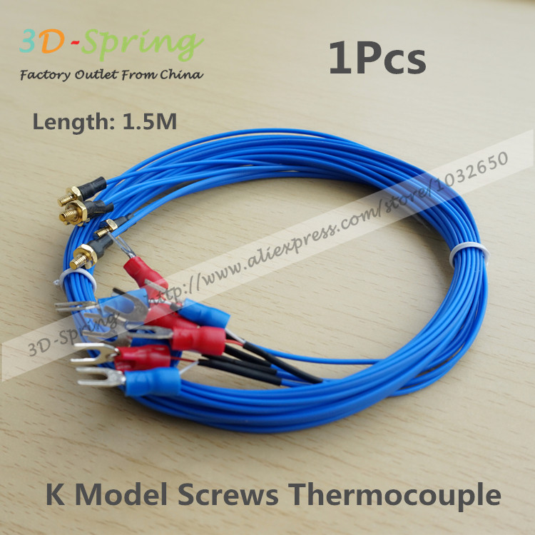 uxcell K Type Thermocouple Temperature Sensor Probe for 3D Printer 3 Meters Cable M3 Thread