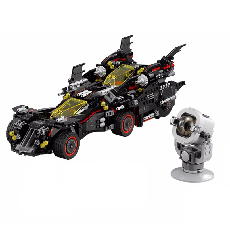 1496Pcs Batman Marvel Super Heroes Genuine Movie The Ultimate Batmobile Building Blocks Bricks Toys Compatible LEGOINGS 70917 a toy a dream new decool 7124 genuine series marvel batman movie arkham asylum building blocks bricks toys with