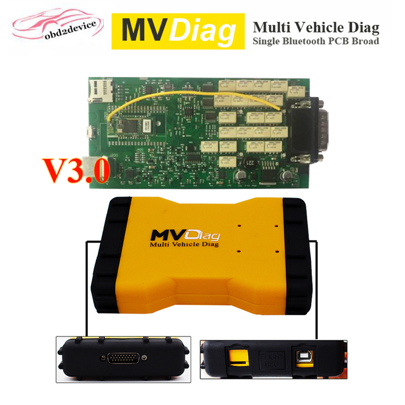Auto Diagnostic Tool MVDiag V5.008 Single PCB Board Car Scanner Multi Vehicle Diag Bluetooth TCS CDP PRO for Car&Truck оборудование для диагностики авто и мото by cds update multi di g j2534 multi diag v02 actia j2534 multi diag j2534 multi diag acess