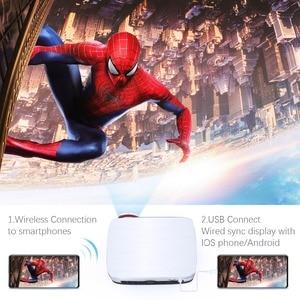 Image 3 - Мощный проектор 1280P Full HD, светодиодный проектор, Android 7,0, 4k, 1920*1280, для ноутбуков, для бизнеса и домашнего кинотеатра, проектор с ЖК экраном