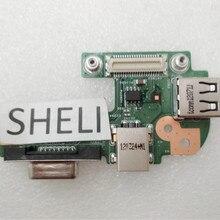 SHELI For Dell 15R N5110 Dc Jack Power Usb VGA Board 48.4IF0