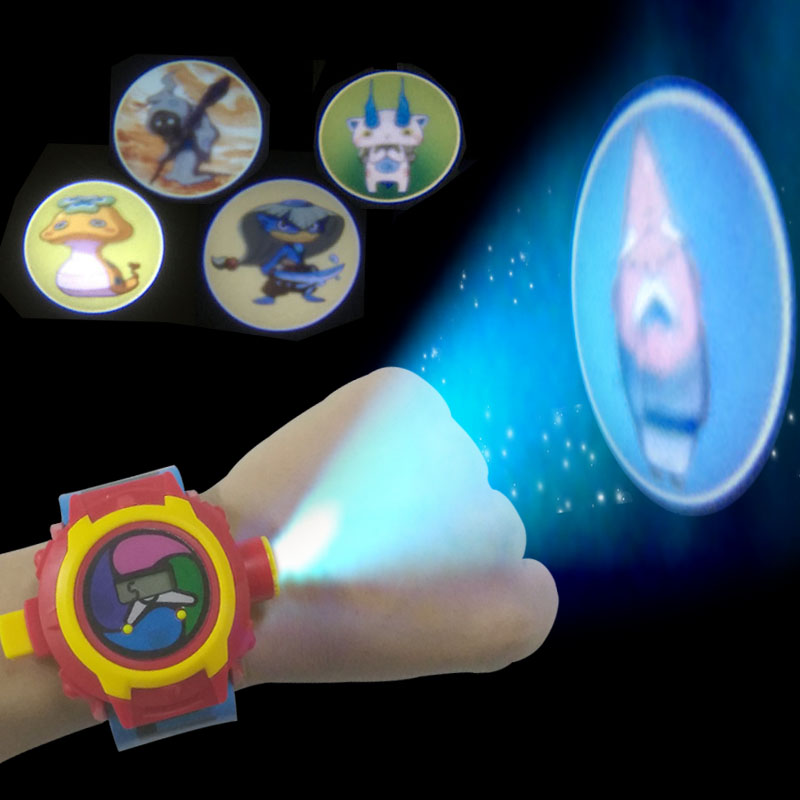 Japanese Anime DX Yo-Kai Wrist Watch Kids Toy Birthday Gift Yo Kai Projection Project 24 Figures Electronic Watch 502828 3 7v 450mah li ion rechargeable lipo 3 7v mp3 player with aaa battery