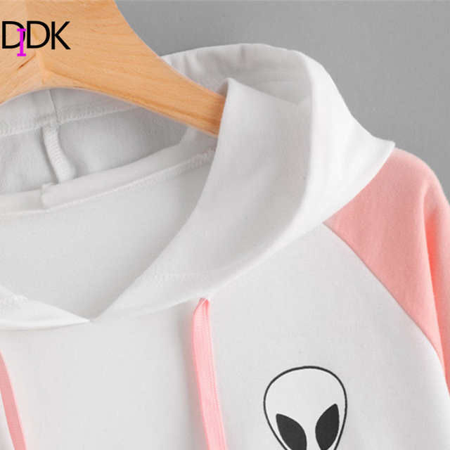 Women Patchwork Long Sleeve Sporty Pullovers Sweatshirts Hoodie