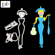 Julyarts Frenchwoman 2019 New Metal Cutting Dies For Scrapbooking Decor Paper Card Making DIY Embossing Crafts