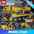 Lepin 20068 1884 Unids 8421 Technic Mecánico Serie de La Grúa Móvil Establece Niños Educativos Bloques de Construcción de Ladrillos de Juguetes Modelo