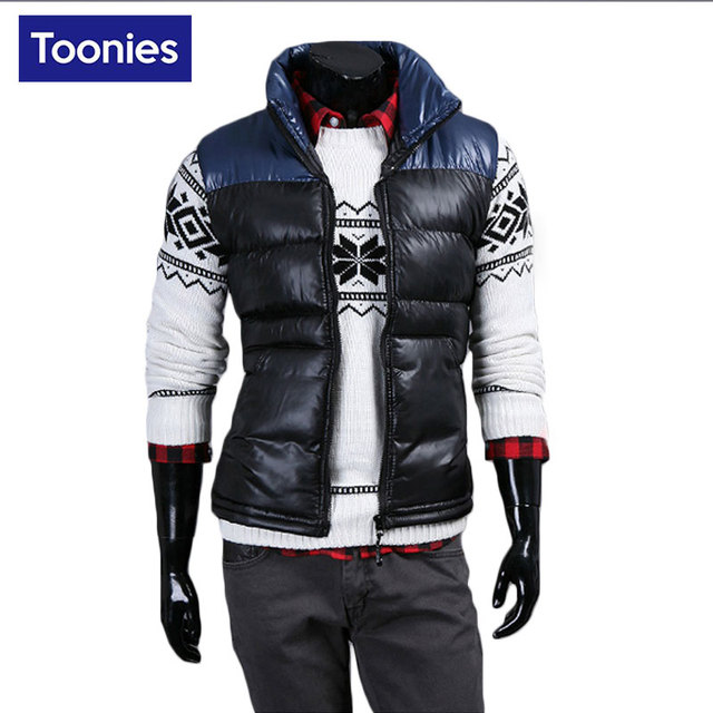 Colete Masculino Brand Clothing Down Vest Men Sleeveless Chaleco Hombre New Spring Mens Warm Vest Outerwear Gilet Homme 2017