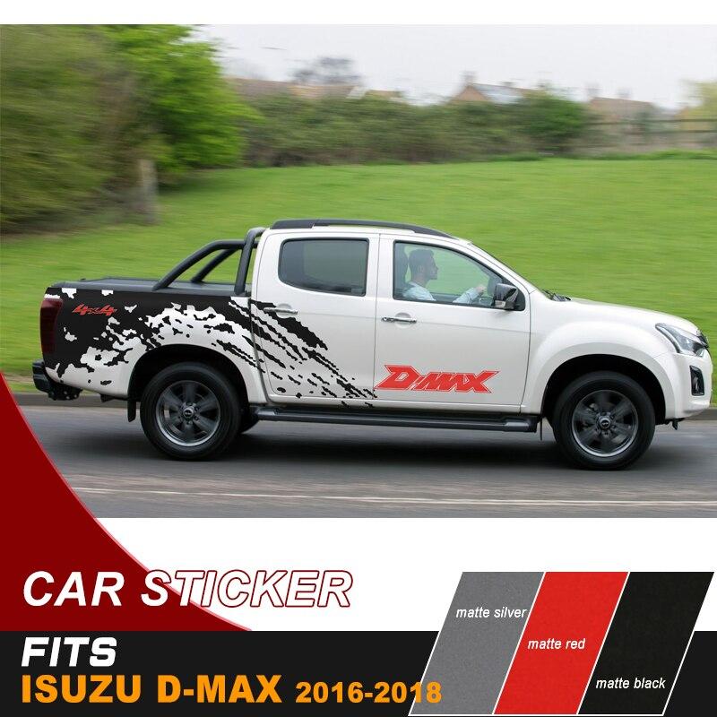 Autocollant de corps de côté de boue autocollant de vinyle graphique de boue autocollant marqué sale pour isuzu dmax 2012-2017 accessoires de ramassage
