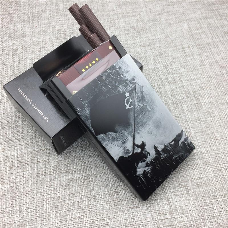 Cigarette-Boxes Gift Berlin Metal World-War Laser For Men Engraving Conquering Aluminium-Alloy