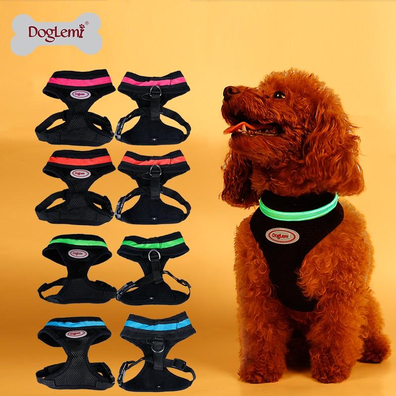 Blikající Led Pet Harness LED psí síťovina vesta postroj 4 barvy 5sizes