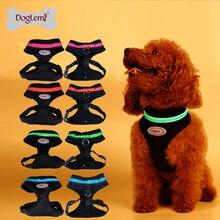 Free Shipping!!!Flashing Led Pet Harness LED dog mesh vest harness 4 colors 5sizes