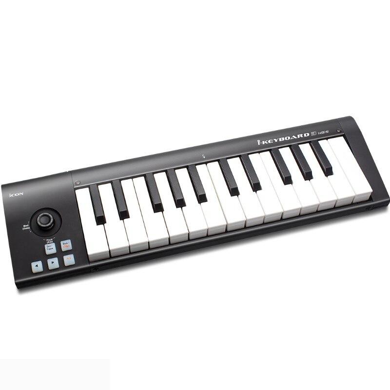 Razionale Icona Ikeyboard 3 Mini 25-nota Alla Velocità Di Sensibile Pianoforte-chiavi Di Stile Usb Tastiera Controller Midi