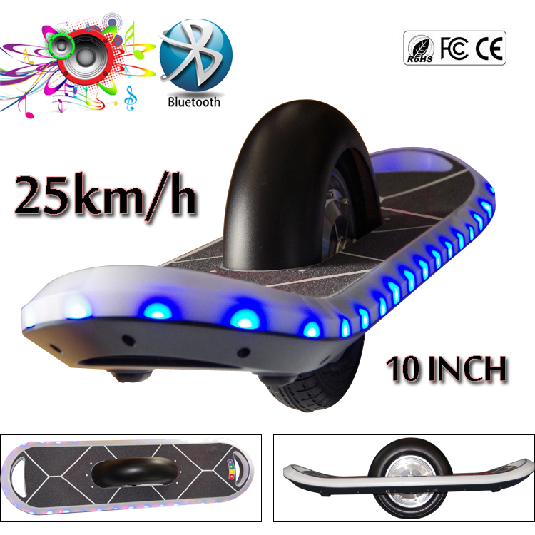 25km H Samsung Battery One Wheel Electric Scooter Skateboard 10 Inch Hoverboard Bluetooth Smart Balance Board Oxboard Led