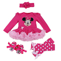 Infant Clothing Cartoon Minnie Sets Rompers Ruffle Tutu Dress Newborn Baby Girls Outfits Clothes Set Vestidos 1 Birthday Dress