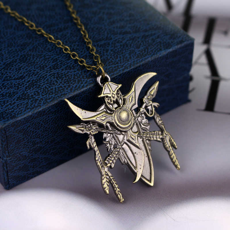 Dunia Perang Kerajinan Permainan LOGO Kalung Fashion Sliver Dunia Warcraft Permainan Perhiasan Liontin Kalung Pria Teman Hadiah- 30