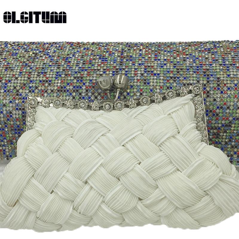 OLGITUM 2018 Hot Sale Woven Handbag Fashion Handbags Casual Shoulder Hand Holding Purse Female Long Section HB088