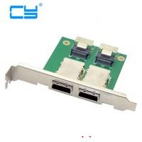 Dual Ports Mini SAS SFF 8088 To SAS 36Pin SFF 8087 PCBA Female Adapter With PCI Bracket