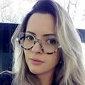 Novo 2017 Da Marca de Luxo Designer de Óculos Metade do Quadro Óculos Claros Mulheres Original Do Gato Olho Óculos Quadros Armações de Óculos Óculos