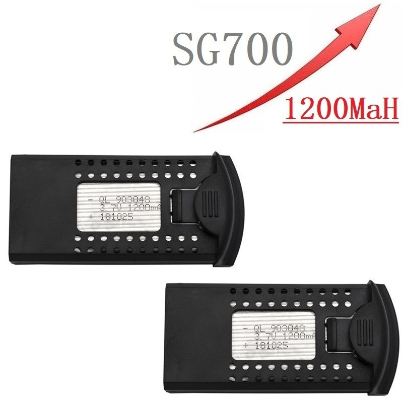 Upgrade 3.7V 1200mAh Li-po Battery For DM107S SG700 S169 RC Quadcopter Spare Parts 3.7v Drone Rechargeable Battery 903048 2pcs