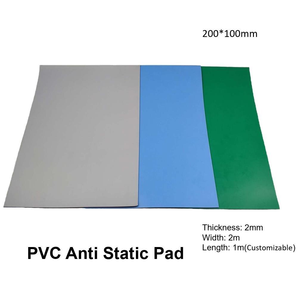 Protection en caoutchouc antistatique de travail de bureau de tapis d'esd de PVC pour le téléphone portable électronique PC ordinateur portable entretien de réparation 200*100 cm