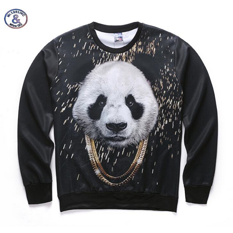 Mr.1991INC&Miss.GO Hot Sale Hip-Hop panda 3D Printed Mens Hoodies Fashion Sweatshirts Long Sleeves Hooded Pullover Tops