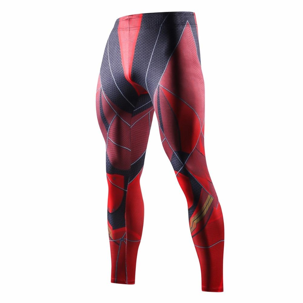 New Flash Marvel Superhero Man 3D Printed Compression Tights Pants Men Fitness Exercise Skinny Bodybuilding Leggings Trousers