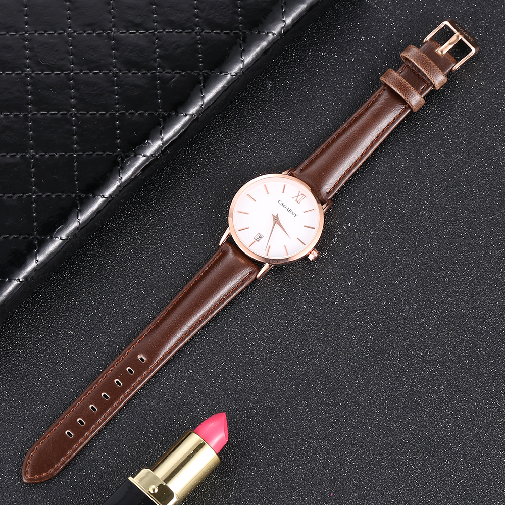 Cagarny Women Watches Luxury Brand Leather belt Ladies Quartz Women Watches 2018 Sport Relogio Feminino Rose Gold Montre Femme Wrist Watch high quality (4)